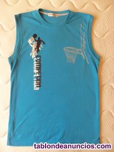Camiseta tirantes azul claro xxl