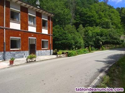 Venta casa con dos viviendas y terreno el entrego asturias