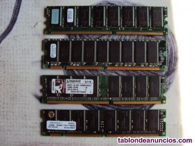 Memorias ram 512 y 256 mb