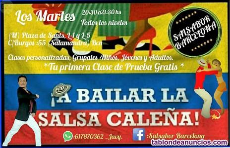 Clases de salsa caleña en barcelona(enero 2019)