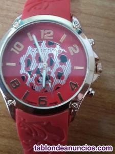Reloj exactime rojo a