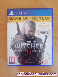THE WITCHER 3 - GOTY EDITION (PS4)