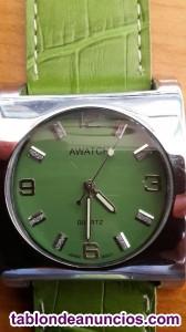 Reloj c awatch verde inox