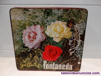 Antigua caja galletas FONTANEDA