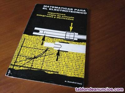 Libro regla de calculo matematicas para el electrotecnico 1964 slide rule rechen