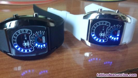 Relojes led ovales negro  jm