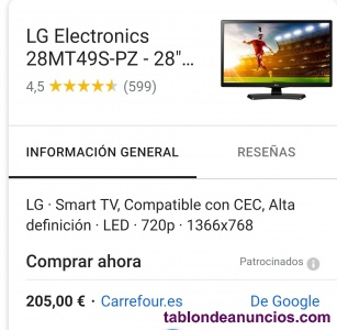 SMART TV LG 28 QUOT;