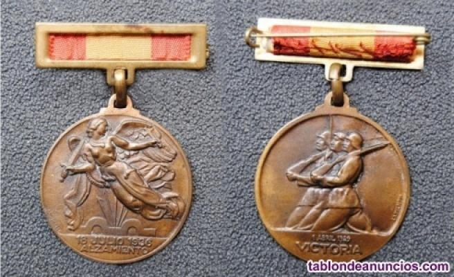 Medalla Sección Femenina Concentración Medina del Campo Homenaje Ejército