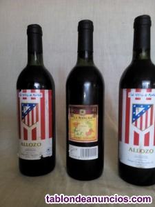 Tres botella tinto atletico de madrid