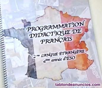 PROGRAMACIÓN, TEMARIO Y SUPUESTOS PRÁCTICOS DE FRANCÉS. SECUNDARIA.