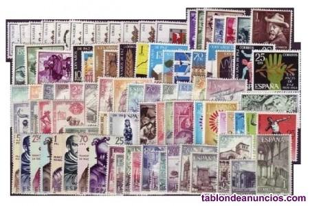 Coleccion de sellos nuevos de españa 1964 al 1994.