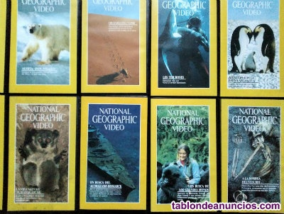 Dos colecciones de documentales de ''National Geographic'' (VHS)
