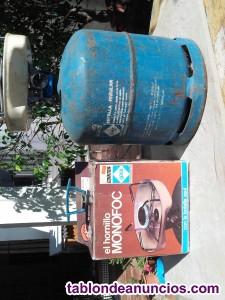Bombona azul camping gas y hornillo