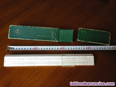 Regla de calculo a.w. Faber castell 1/54 darmstadt con su caja calculadora slide
