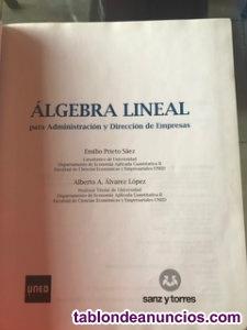 Algebra lineal para administracion y direccion empresas emilio prieto saez