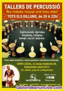 Taller de percusión en Sant Andreu (Bcn)