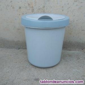 Papelera plástico ø26x31cm
