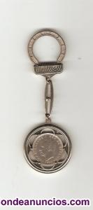 Llavero moneda cinco pesetas