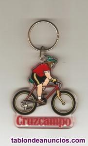 Llavero gambrinus ciclista