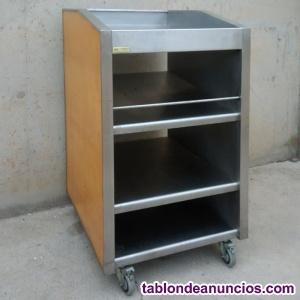 CARRO INOX Y MADERA 75X85X130CM