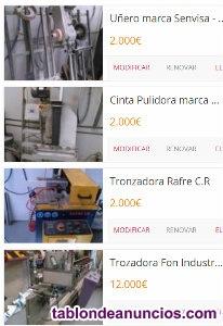 Venta de máquinas: sector cristalería