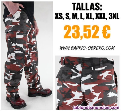 Pantalones militares de camuflaje rojo - Contrareembolso.