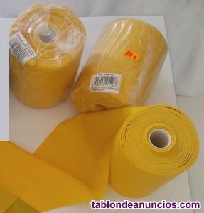 Rollos de banda elástica amarilla