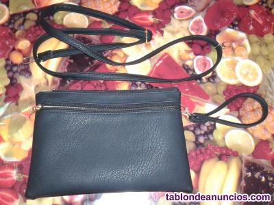 Bolso-cartera negra mujer