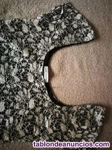 Vestido estrecho mini de encaje talla 38