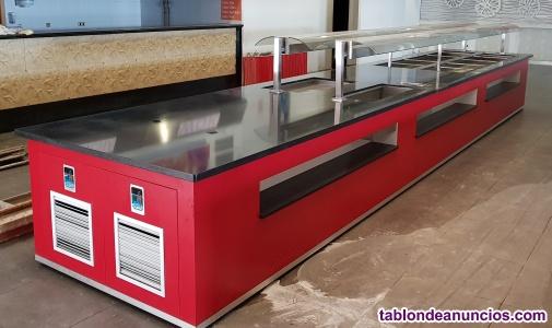 Mesa refrigeracion buffet, wok, self. Service