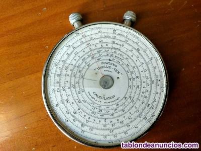 Regla de cálculo - antigua calculadora fowler´s twelve - ten fowler slide rule r