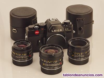 Leica r3 y 3 objetivos leitz