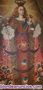 Virgen con Niño-siglo,xv11-oleo sobre lienzo