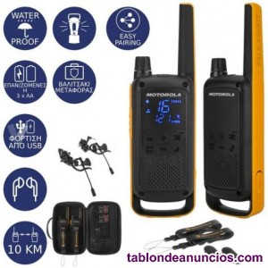 Pareja de walkie talkie Motorola T82 digital PMR446 con maleta y accesorios