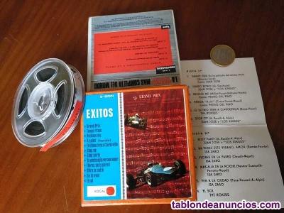 Exitos cinta antigua de magnetofon magnetofonica o magnetofono con caja final de