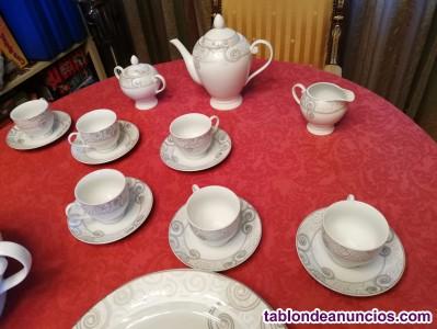 Oportunidad a estrenar vajilla porcelana fina y juego cafe 95 piezas