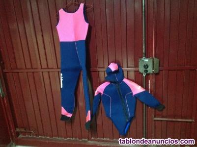 1128 traje submarinismo tridacna para chicas