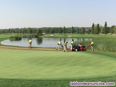 Jardinero con experiencia en campos de golf