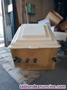 Caseta semienterrada para piscina con filtro de 500mm y bomba de 1 hp.