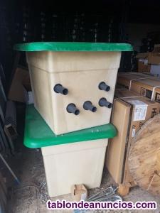 Caseta enterrada para piscina con filtro de 500mm y bomba de 1 hp.