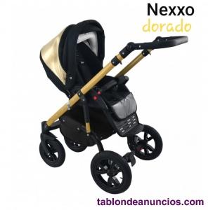 Carro de bebe dorado