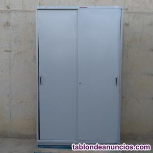 Armario metálico puertas correderas 120cm