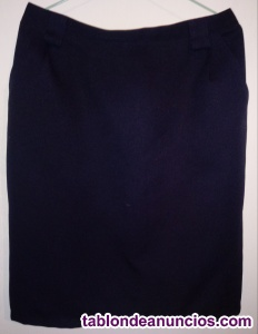 Falda señora azul