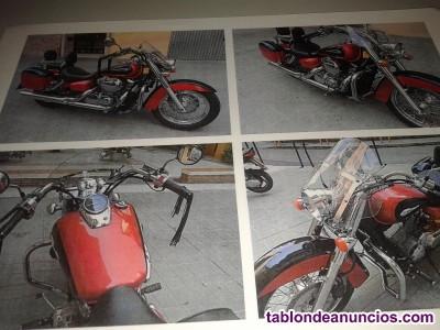Moto  custom honda shadow