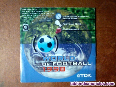 Cd interactive world of football 1998 tdk