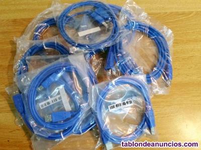 Cables impresora. Nuevos. Precintados. (lote 12)