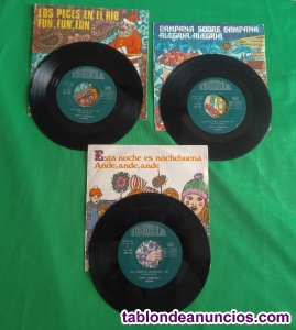 Tres discos singles música infantil