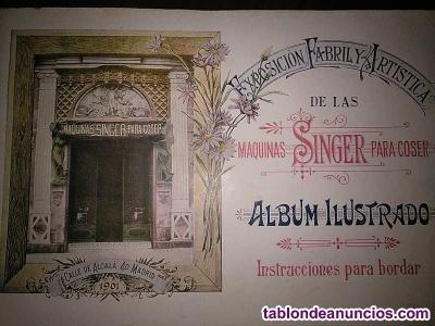 1901 singer album ilustrado exposicion fabril y artistica de las maquinas singer