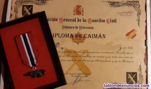 Medalla caimán guardia civil y policía