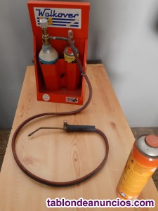 Soplete de gas y oxigeno portátil.